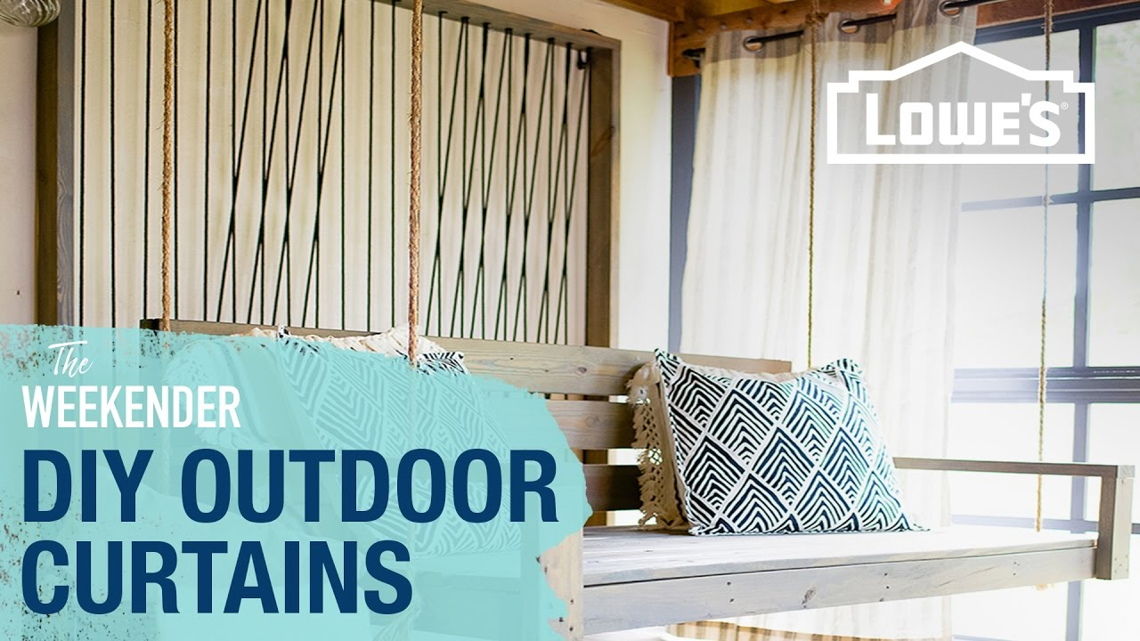 Diy Outdoor Curtains Youtube