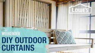 diy outdoor curtains