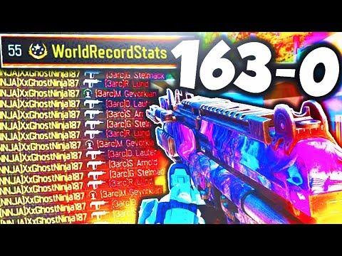 BO3 *WORLD RECORD STATS* 163-0 GAMEPLAY! - BEST K/D & W/L STATS in BLACK OPS 3! (NEW BLACK OPS 3)