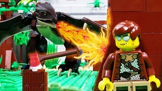 LEGO City Dragon Slayer STOP MOTION LEGO Knight vs Dragon EPIC Fight | LEGO City | Billy Bricks