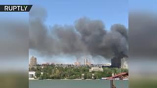 Крупный пожар в Ростове-на-Дону: горят 12 частных домов