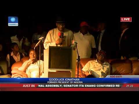 Ekiti Flyover Is Best In Nigeria - Goodluck Jonathan
