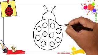 ladybug step draw easy drawing beginners children getdrawings