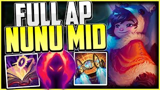 How to play FULL AP NUNU MID & CARRY! + Bes Build/Runes | Nunu & Willump Guide League of Legends