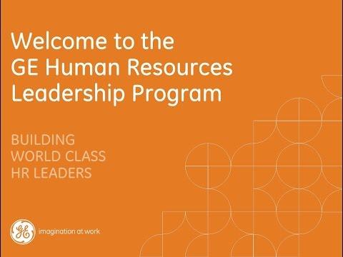GE HR Leadership Program Webinar 2015