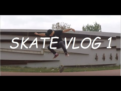 BACKSIDE FLIP FIRST TRY??? - PTOLEMAIDA-SKATE VLOG 1
