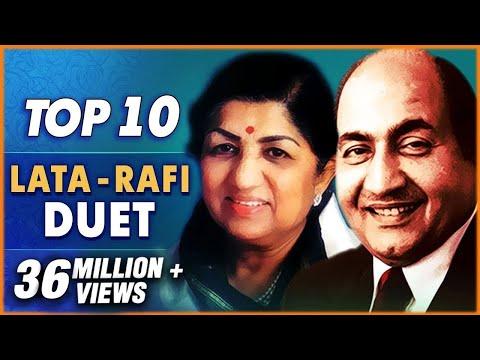 Mohammad Rafi & Lata Mangeshkar Hits  Top 10 Lata & Rafi Duet Songs   Old Hindi Songs Collection