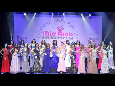 MISS ARAB USA PAGEANT 2014 CONTESTANTS & CROWNING MOMENTS OF GUINWA ZEINEDDINE