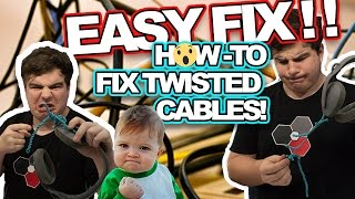 HOW TO FIX TWISTED/TANGLED CABLES THE EASY WAY! (Tangled or Knotted Cables/Headphones)