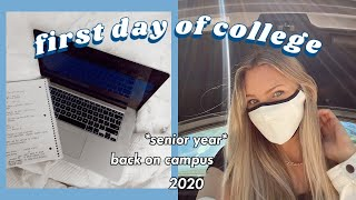 FIRST DAY OF COLLEGE VLOG (in person) 2020!