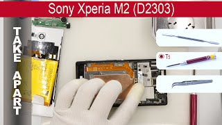 Video How to disassemble 📱 Sony Xperia M2 D2303, D2305, D2306 Take apart, Tutorial download MP3, 3GP, MP4, WEBM, AVI, FLV Maret 2018