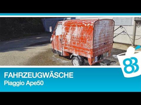 Fahrzeugwäsche und Wachsen mit Collinite 476s Wachs Test - Piaggio Ape hässlicher als Fiat Multipla
