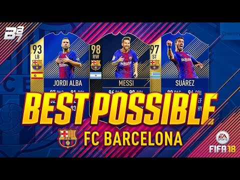 BEST POSSIBLE BARCELONA TEAM! w/ TOTS SUAREZ AND TOTY MESSI! | FIFA 18 ULTIMATE TEAM