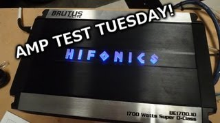 Amp Test Tuesday - Hifonics Brutus Elite BE1700.1D Rated 1700x1