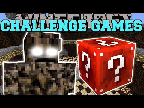 Minecraft: ROCK MONSTER CHALLENGE GAMES - Lucky Block Mod - Modded Mini-Game