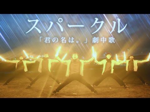 【君の名は。】スパークル / RADWIMPS ヲタ芸で表現してみた【北の打ち師達 】Sparkle Light Dance