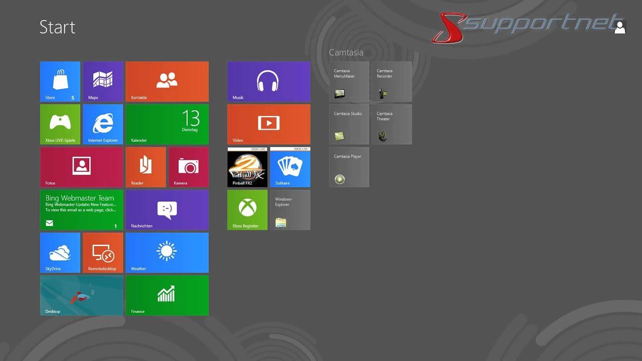 mit microsoft windows 8 schnell einen screenshot erstellen supportnet tipp youtube. Black Bedroom Furniture Sets. Home Design Ideas