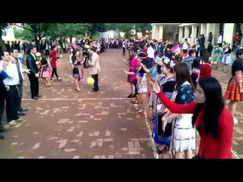 Các bạn Dân Tộc Hmong Lào ăn tết bên Việt Nam 2016(nyab laj)