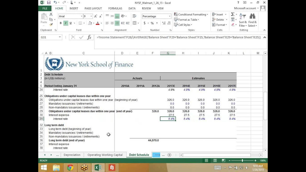 Modeling a Debt Schedule - YouTube