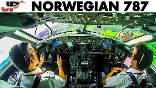 Piloting the Boeing 787 out of Stockholm | Cockpit View