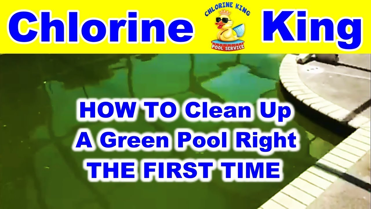 how to clean a green pool chlorine king pool service youtube. Black Bedroom Furniture Sets. Home Design Ideas