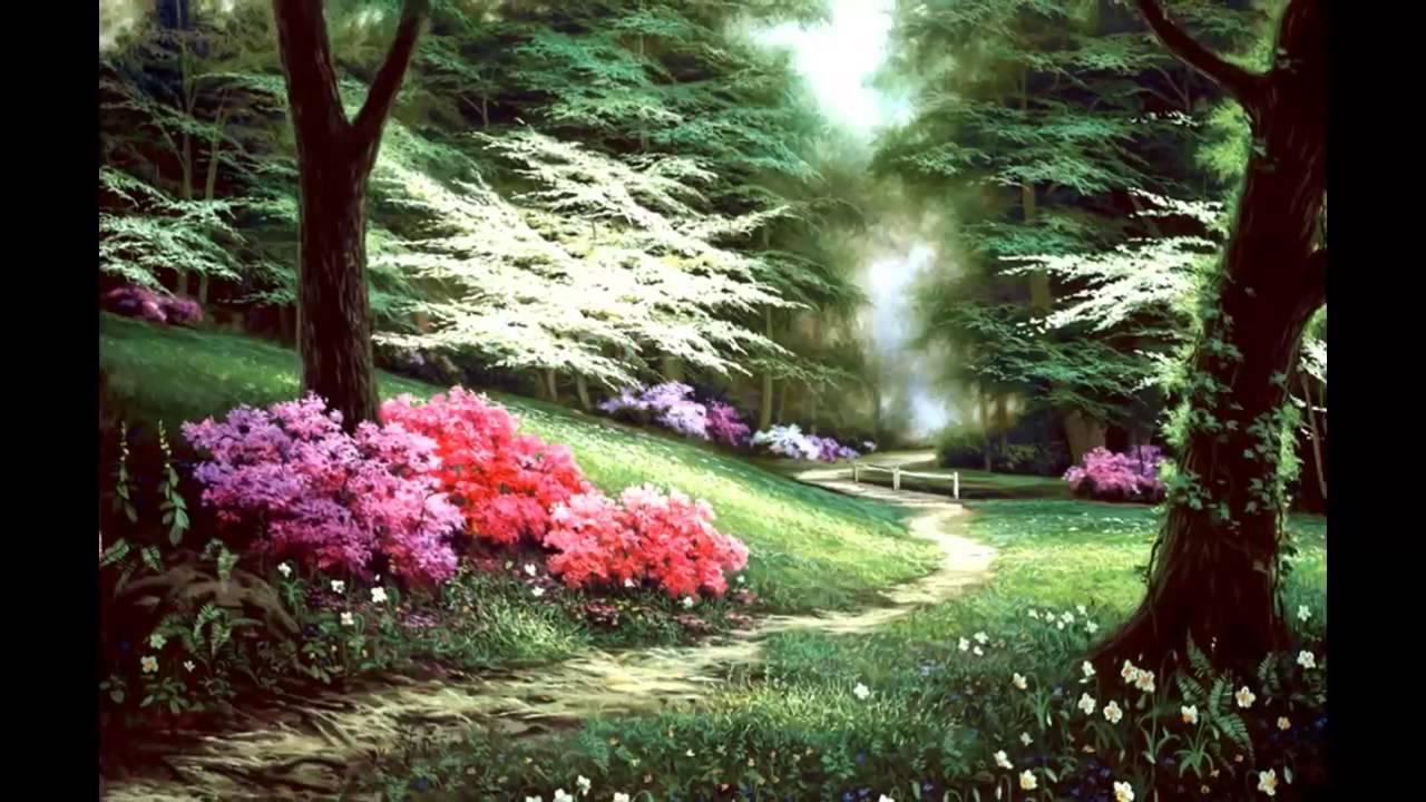 Secret Garden painting Egidio Antonaccio painter