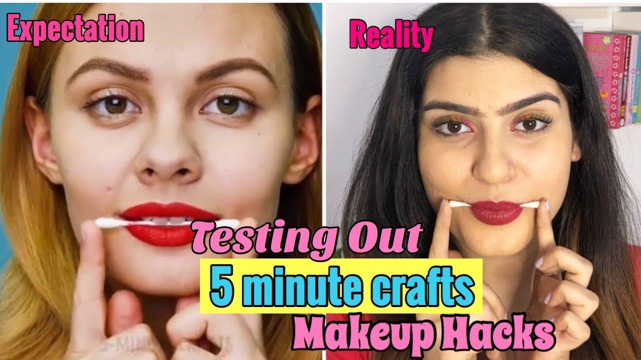 Testing Out Viral Makeup Hacks By 5 Minute Crafts Yashita Rai Youtube