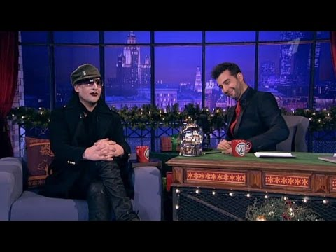 "Мэрилин Мэнсон/Marilyn Manson, Ксения Раппопорт, гр.""Секрет"". Вечерний Ургант. 100( 21.12.2012)"