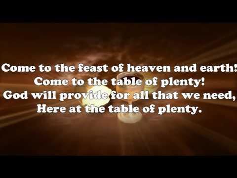 Table of Plenty lyrics