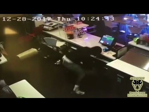 Smoothie Shop Manager Turns the Tables on Robber | Active Self Protection