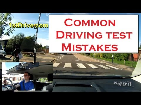 Common driving test mistakes