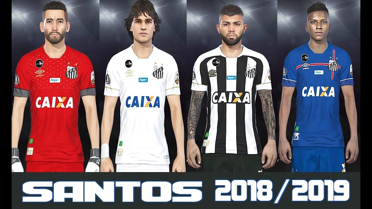1997a2cf17293 PES 2018 - UNIFORME SANTOS FC TEMPORADA 2018/2019 - PC/PS4 - YouTube
