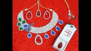 DIY Necklace Set for Big Size Vigrah of Yugal Radha Krishna  | Shyam Diwani