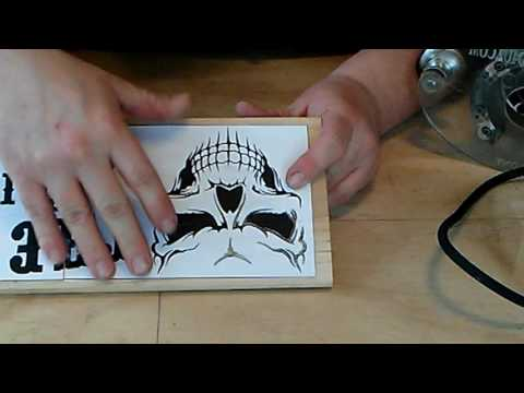 Video #7 Making a wood sign made easy. Carving inset letters and silhouettes on a wood sign.