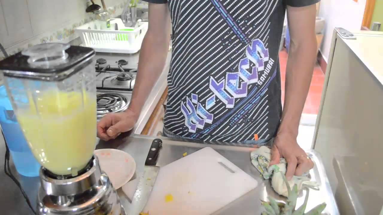 Guatila con jugo de naranja para adelgazar