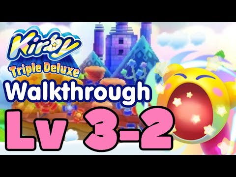 Kirby Triple Deluxe Gameplay Walkthrough Level 3-2 Old Odyssey