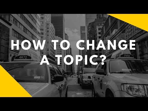 Changing Conversation Subject and Topic (Fast and Easy Trick)