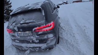 "4k POV 400 HP BMW X5 M50d G05 EXTREME SNOW OFF ROAD conditions. IMPRESSIVE ""CREATE WAY"" off roader"