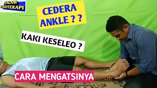 Cara pijit Ankle kaki /Ankle injury.