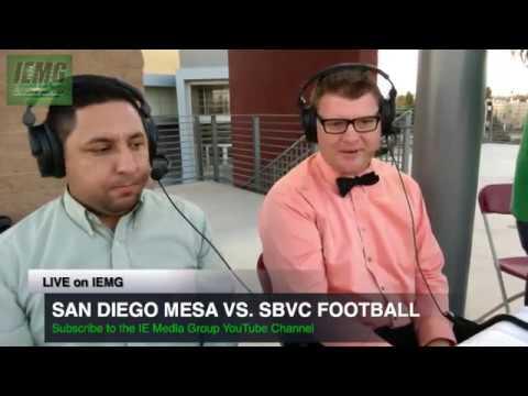 LIVE FOOTBALL! San Diego Mesa vs. SBVC (10-14-17) @ City of San Bernardino, CA.
