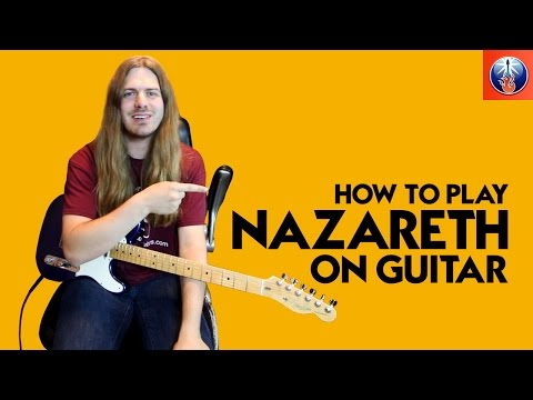 How to Play Nazareth On Guitar - Hair of The Dog Riff Guitar Lesson