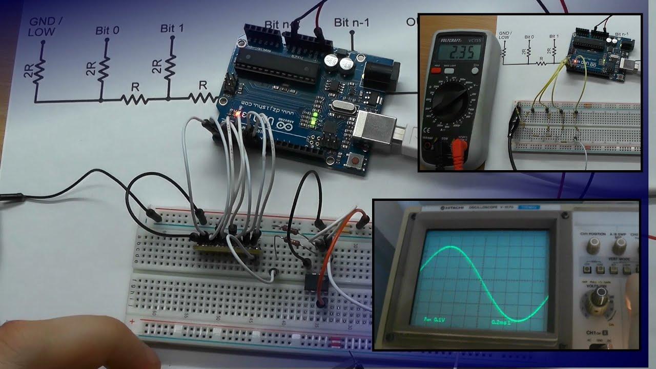 Dac Using R 2r Resistor Ladder Youtube Bcd To Binary Converter Electronics Telecommunication Circuit