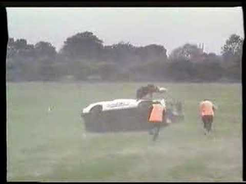 RENAULT FUEGO roll over stunt world record. 1980's