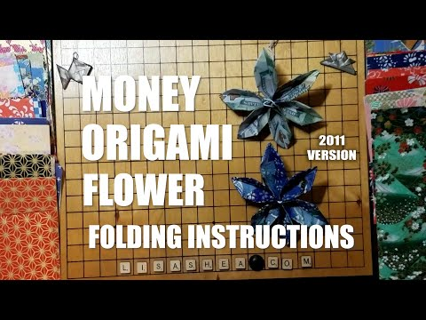 Money origami flower folding instructions youtube money origami flower folding instructions mightylinksfo