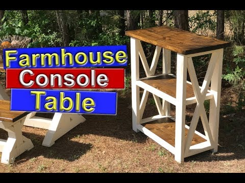 DIY Farmhouse Furniture (Console Table)