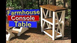 DIY Farmhouse Furniture (Console Table)