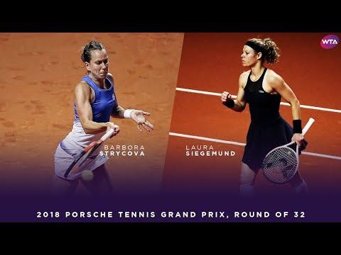 Barbora Strycova vs. Laura Siegemund | 2018 Porsche Tennis Grand Prix First Round | WTA Highlights