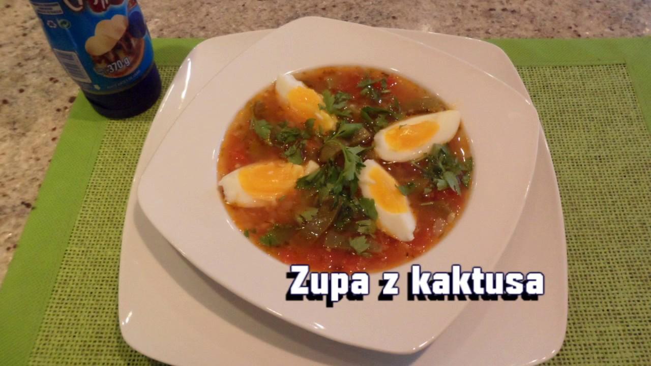 Zupa Z Kaktusasopa De Nopal Kuchnia Meksykańska
