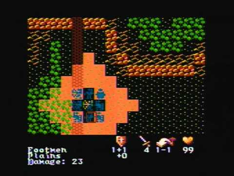 Atari 800 XL - His Dark Majesty - Intro & Gameplay