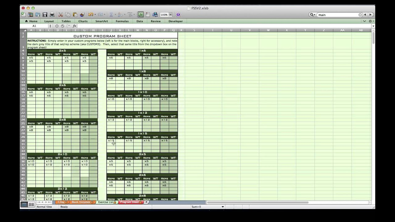Excel Spreadsheet For Tracking Training